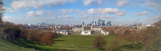 Spectacular view at (and across) Greenwich Park.