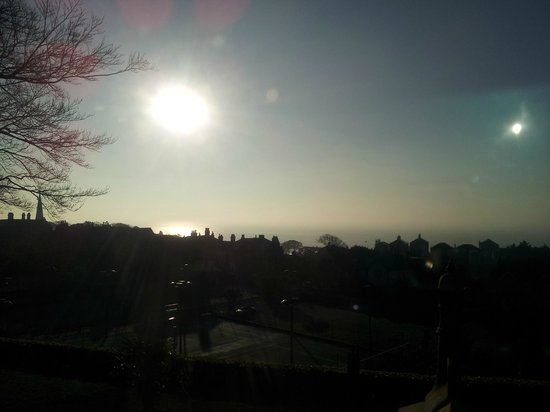 Hillside Hotel: Good morning, sunshine! (View from Room #3)