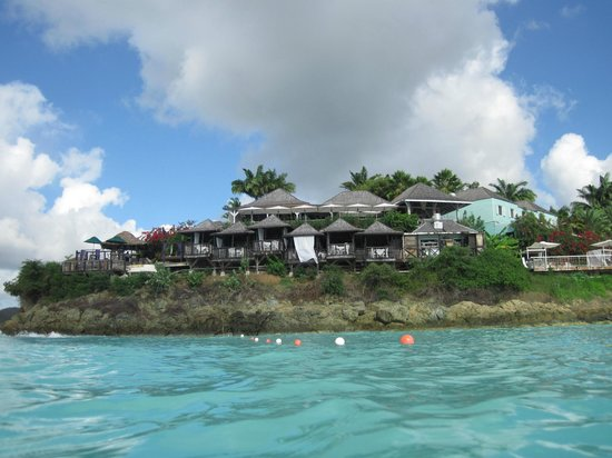 Cocobay Resort : The resort from the water.