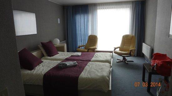 Hostellerie Melrose : Vue de la chambre.