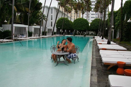 Delano South Beach Hotel : its all ours the pool lol