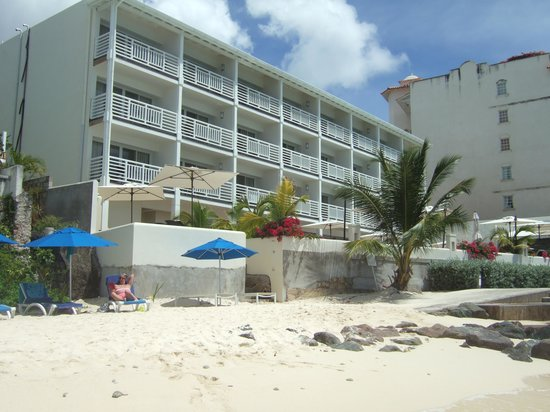 The SoCo Hotel-Adults Only All Inclusive : The hotel from the beach.