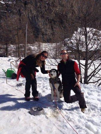 Scuola Sleddog Federale Nazionale : Noi e uno dei tanti magnifici cani