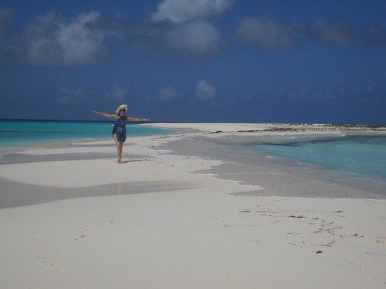 Cayo de Agua: Estrecho de arena camino al faro