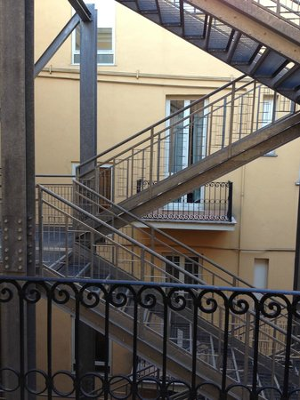 Augusta Lucilla Palace: view from out little balcony- Fire escapes - not great but was nice to get some fresh air