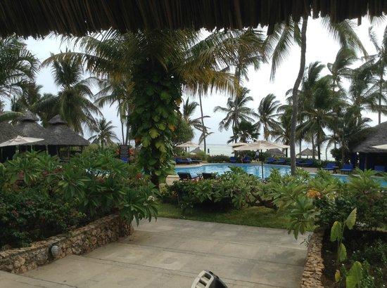 Breezes Beach Club & Spa, Zanzibar: View from reception to the pool