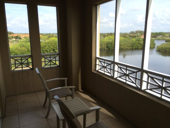 The Westin Cape Coral Resort At Marina Village: Corner room offered a pleasant breeze (this only shows HALF of the balcony!)