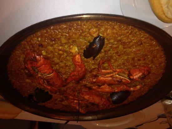 El Coso: Very nice lobster paella