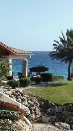 Santa Barbara Beach & Golf Resort, Curacao: View from our partial ocean view room