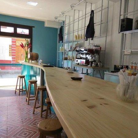 Restaurant Belil: una barra para tomar café organico