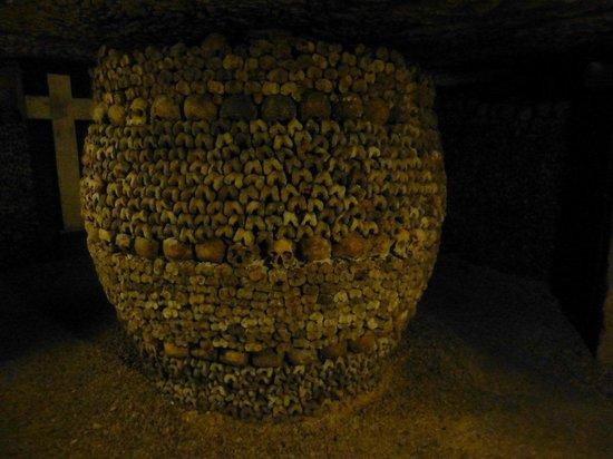 The Catacombs: Barrel-shaped array of bones