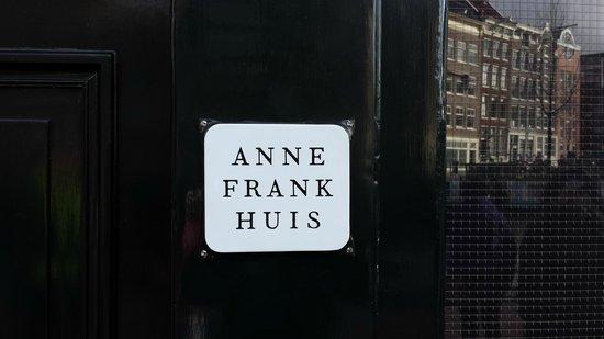 Casa de Anna Frank: Anne Frank House Plaque