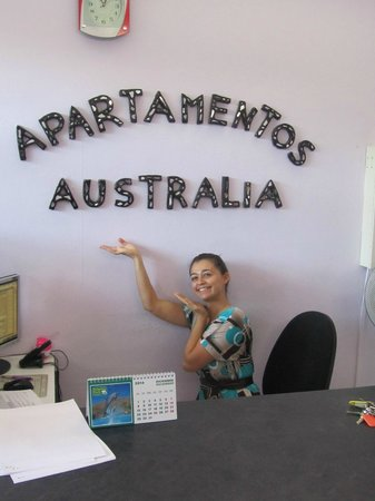 Australia Apartments : Lovely Christina from the reception.