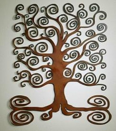 Square Metal Wall Art metal wall art - square tree - picture of handcraft house