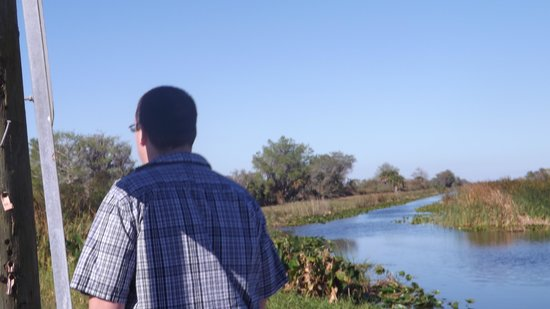 Gator Bait Airboat Adventures: our son
