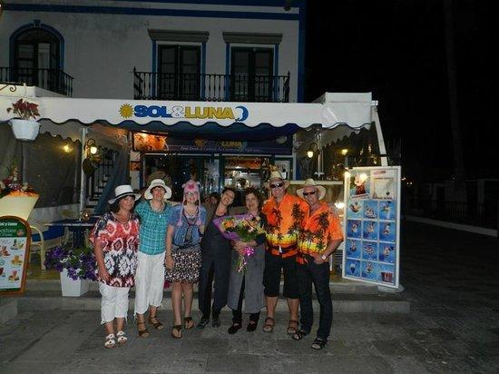 Sol y Luna - Puerto Mogan: verjaardag ANA