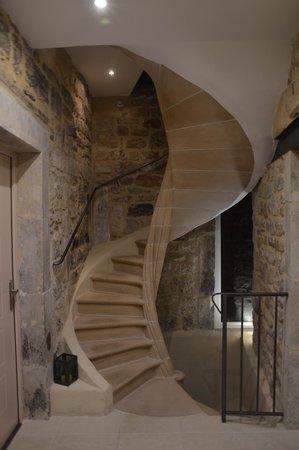 Le Mas des Loges : escalier