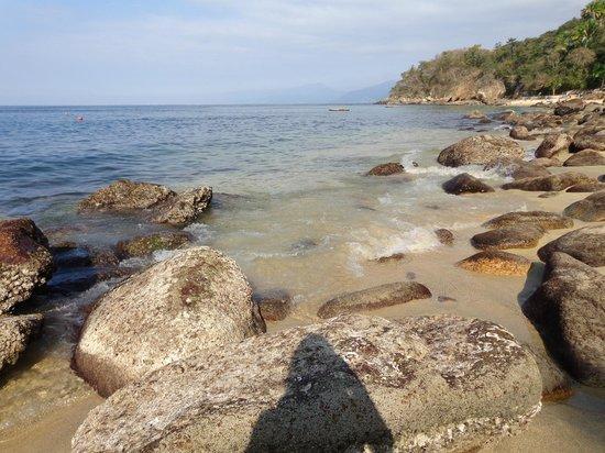 Vallarta Adventures - Las Caletas Beach Hideaway : rocky area before beach