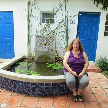 Tres Palmas Inn: pond on grounds