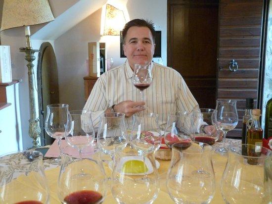 Niccoli Limousine Service - Private Tours: Sampling wines at Tenuta Torciano Winery in San Gimignano
