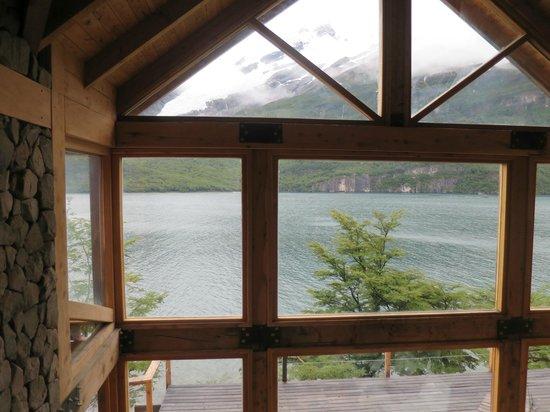 Aguas Arriba Lodge: vista desde el entrepiso