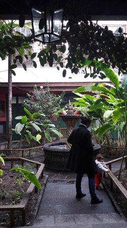Plaza de Santa Ana: patio de casa antigua
