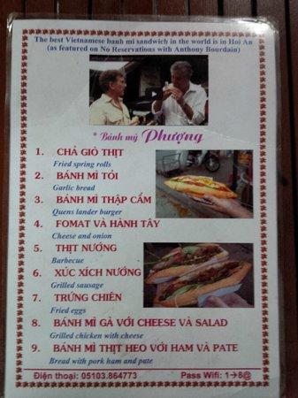 Banh Mi Phuong: Menu - Feb 20, 2014