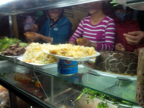 Banh Mi Phuong: Front of the restaurant with ladies busy filling the orders.