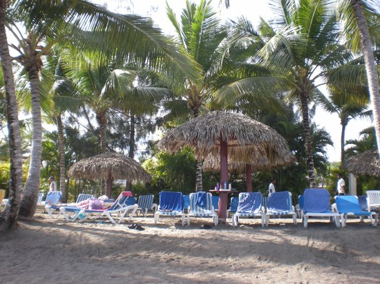 Grand Bahia Principe San Juan: Our spot on the beach.