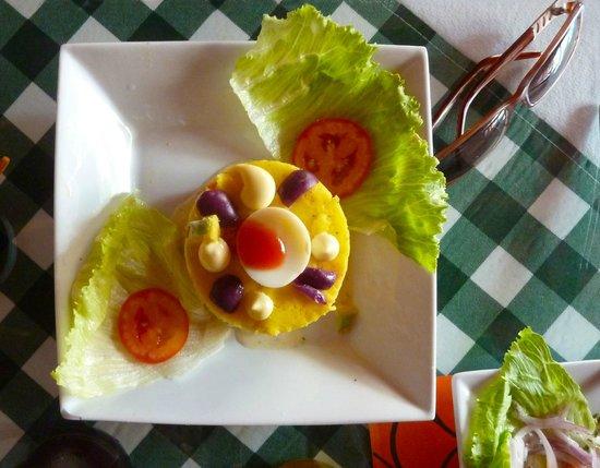 Restaurante Las Tejas: Causa a las Tejas
