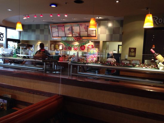 Front Counter Dining Room Area Of Round Table Pizza Lodi