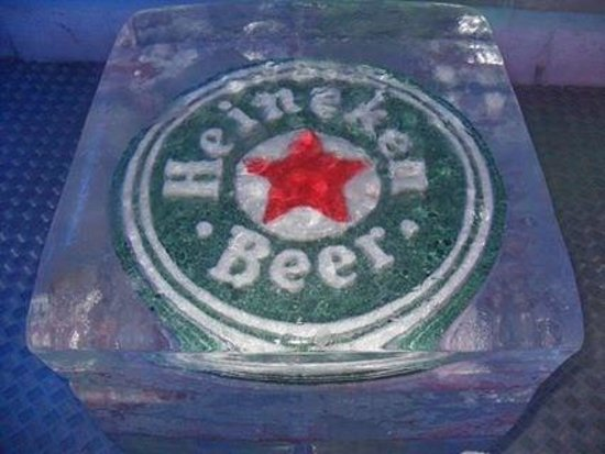 Ice Pub : One of the drinks they sell