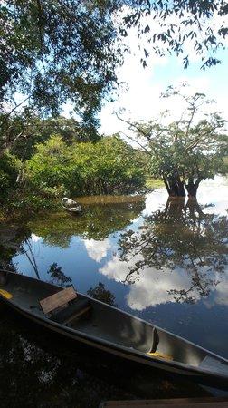Cuyabeno Lodge: at the dock
