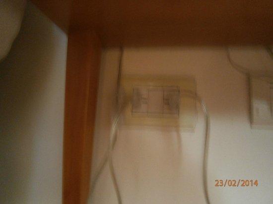 Howard Johnson Hotel Rosario: interruptor inaccesible