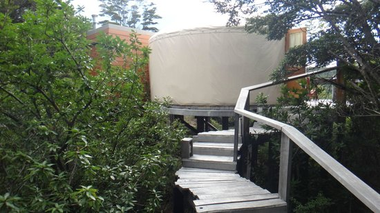 """Patagonia Camp: Stairs to your own private """"Yurt."""""""