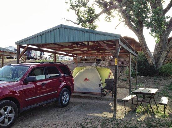 Colorado Springs KOA: Covered Tent Site