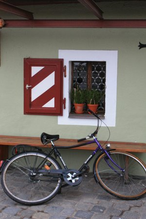 bike outside the Wurstkuchl