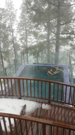 Hotel Parador de Cruz de Tejeda : spa-piscina exterior