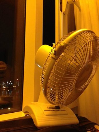 Plaza on the River AC solution--broken table fan