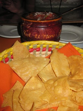 El Moro: Great salsa and chips (bought the container)