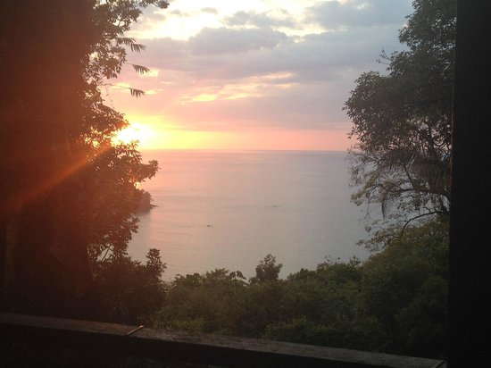 Makanda by the Sea: Sunset view from room