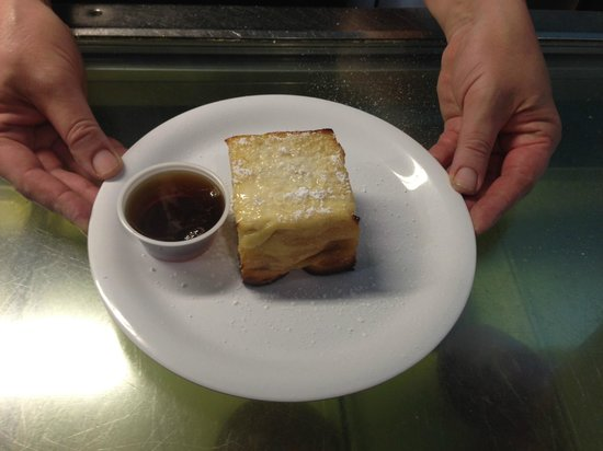 Ginny's and Jane E's Cafe and Coastal Store: Our Delightful Sinful Creme Brûlée French Toast/Maple Syrup