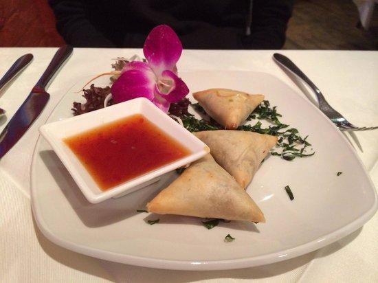 Siam Thai & Teppanyaki Restaurant: Duck spring rolls starter