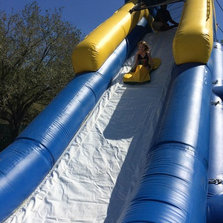 Tampa's Lowry Park Zoo : Bounce slide