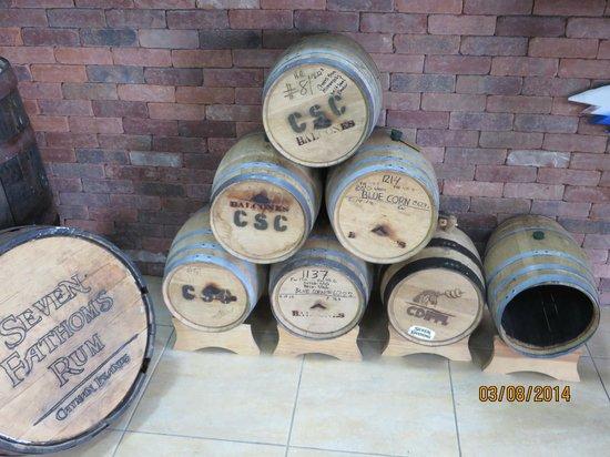 Cayman Spirits Co. Distillery: Rum Barrels