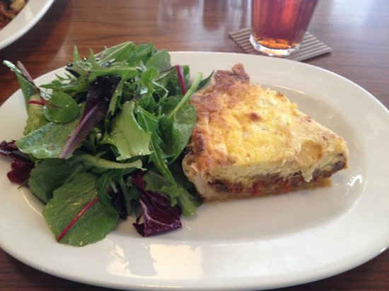 Print Works Bistro : Seasonal quiche with mixed greens