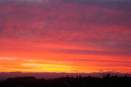 A Panoramic Country Homestay : Sunset