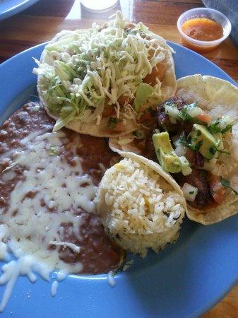 La Condesa Gourmet Taco Shop: White fish taco and mignon taco