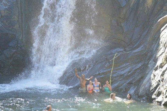 Vallarta Adventures: Refreshing swim after the horseback ride up the mountain.