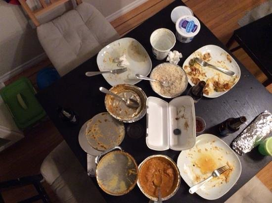 Bombay Joes: The aftermath of a great curry dinner!